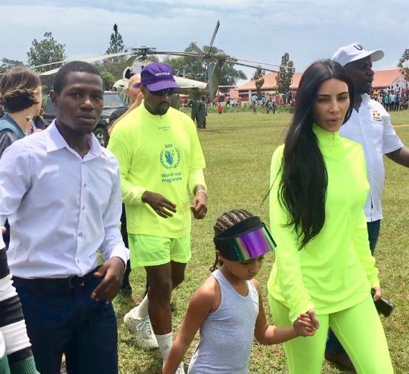 """I think I have made it in life""-  Ugandan man says after meeting Kanye, Kim Kardashian, and North West"