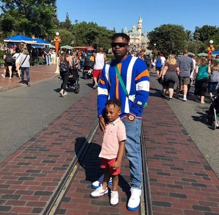 Photos: Olamide takes his son on a trip to Disneyland