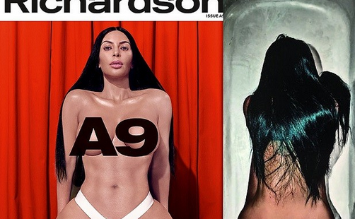 Kim Kardashian poses topless and shows off her bare butt in new photos