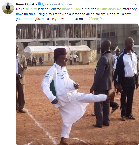 Reno Omokri reacts to Shehu Sani