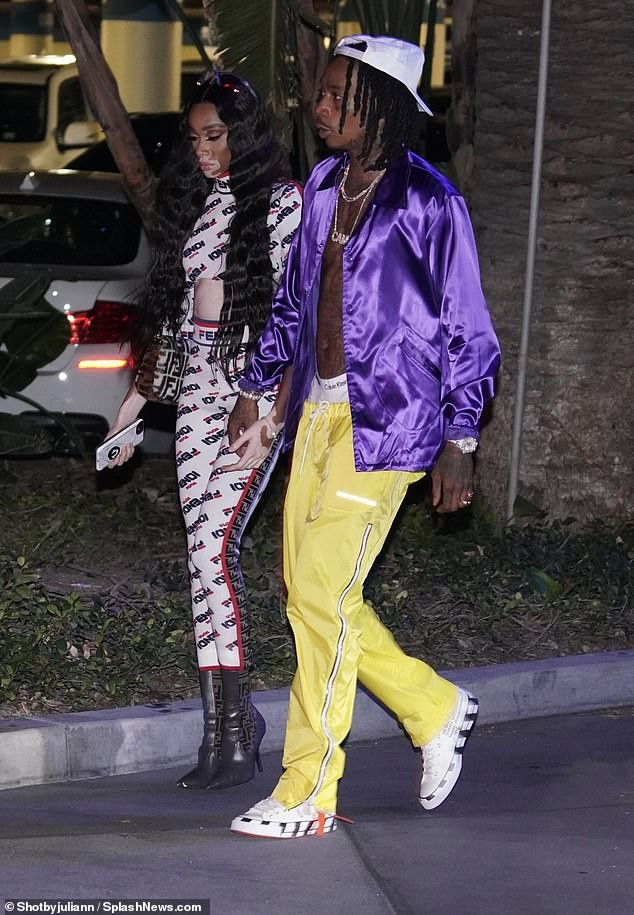 Wiz Khalifa and his new girlfriend Winnie Harlow step out together in LA (Photos)