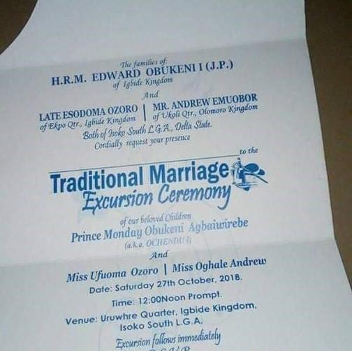 Photos: Delta Prince set to marry two women same day