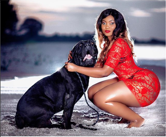 Curvy Tanzanian model, Sanchi causes a stir online with her enormous behind  (Photos)