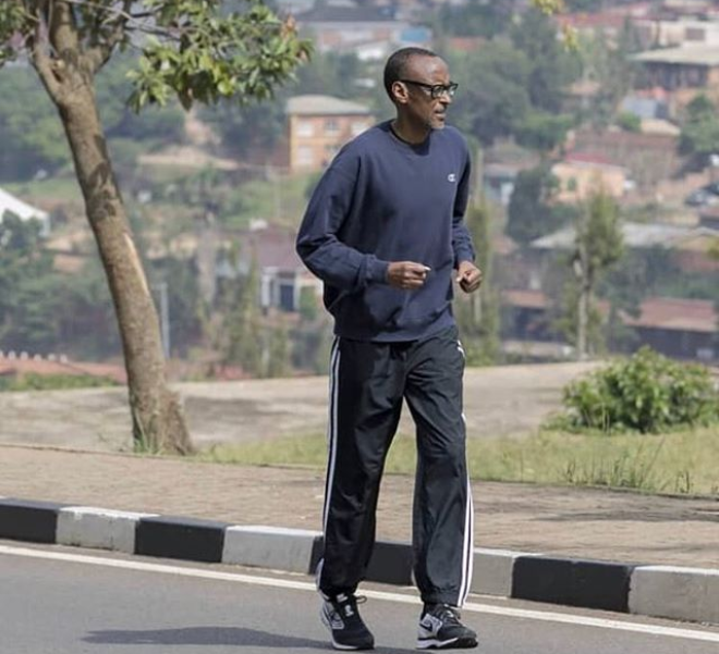 Viral photo of Rwandan President Paul Kagame jogging around Kigali without security
