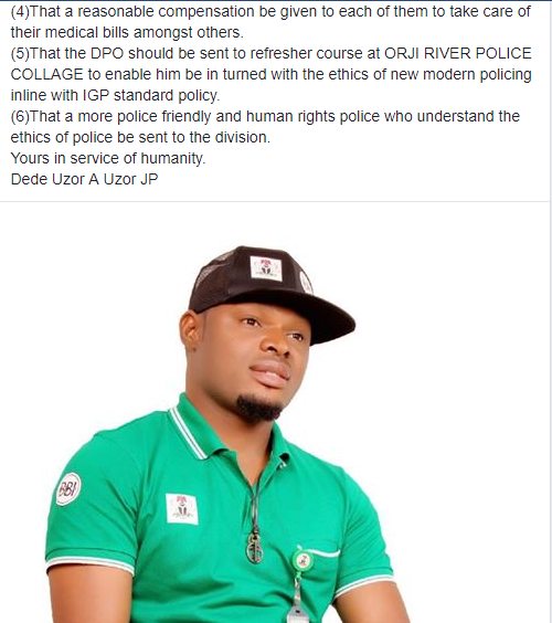 DPO allegedly brutalizes Behind Bars Initiative boss for causing his transfer to another station
