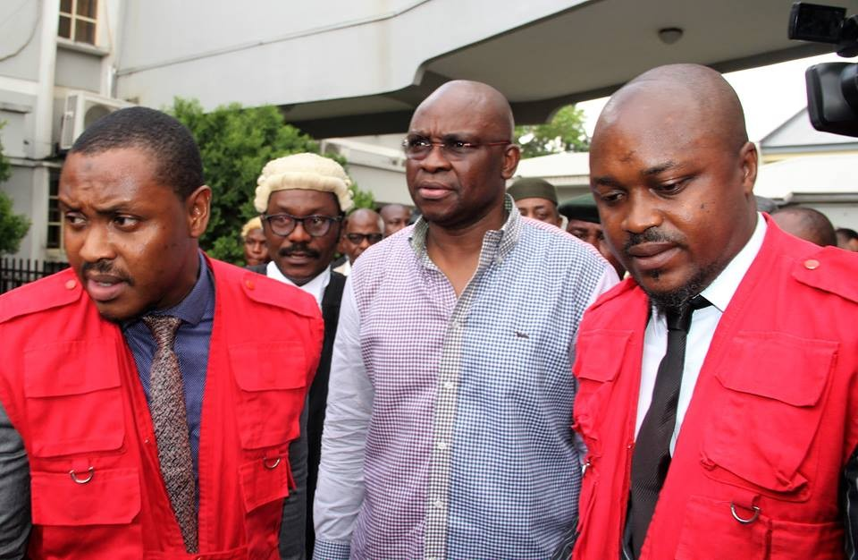 More photos of ex-Ekiti governor, Ayo Fayose, in court today