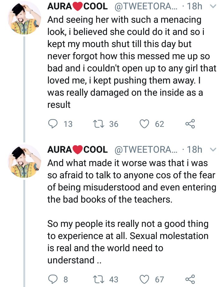 Man narrates how he was sexually molested by a female teacher in secondary school
