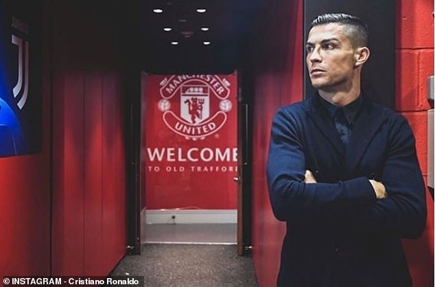 Cristiano Ronaldo shows off £1.85million watch made with 424 glistening white diamonds as he returns to Manchester United (Photos)