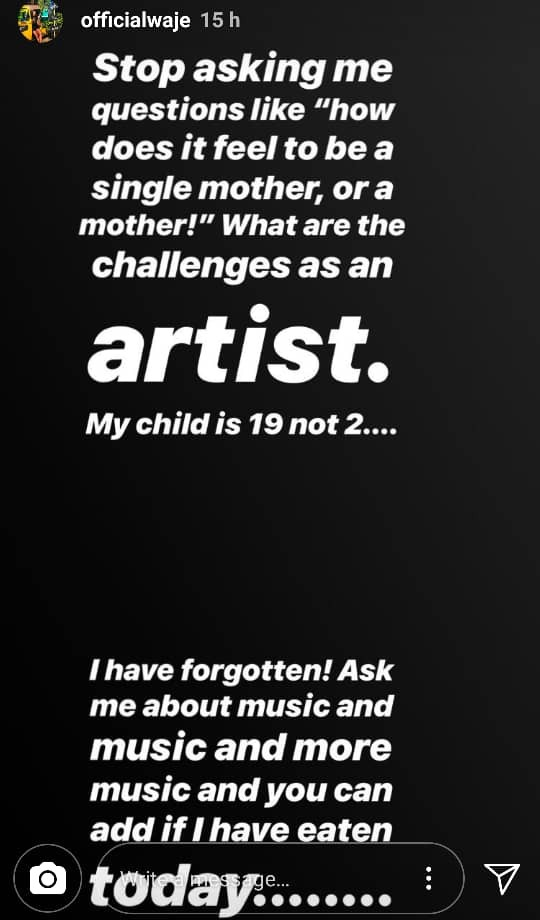 Waje appeals to people to stop asking her how she feels being a single mother