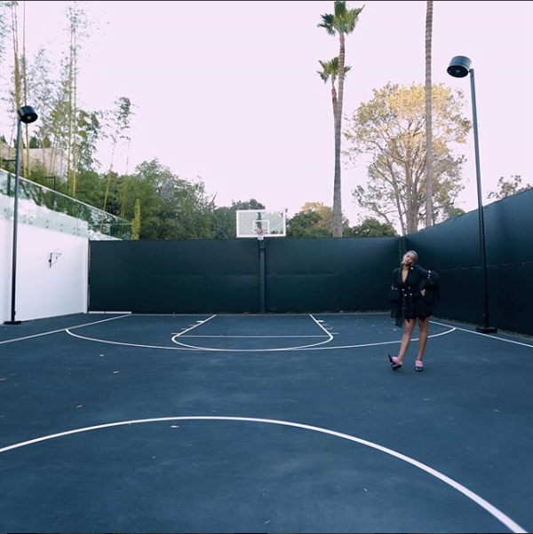 Beyonce shares more stunning photos of herself posing at a tennis court