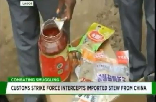 Nigerian customs strike force intercepts containers of imported
