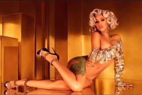 Cardi B exposes even more as she goes naked to promote her new single