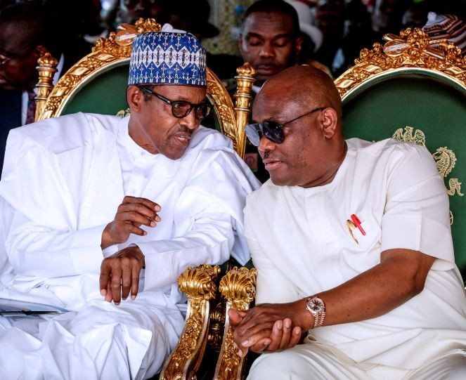 Caption this rare photo of President Buhari and Governor Wike of Rivers State