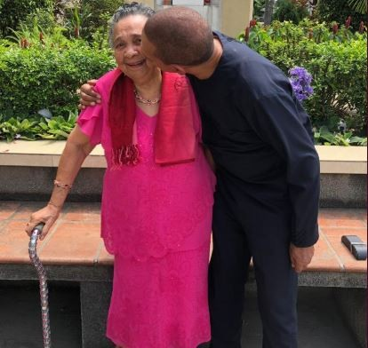 Senator Ben Bruce celebrates his mother