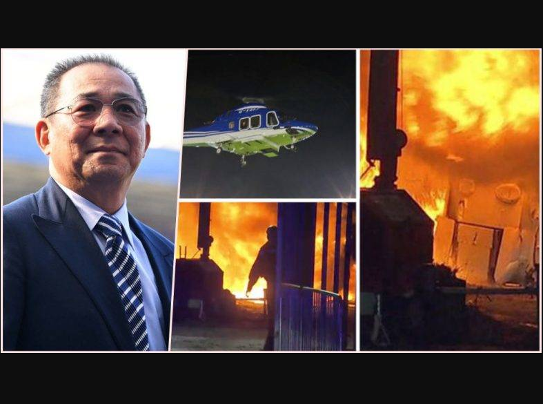 Update: Billionaire Leicester City owner 'died in the helicopter crash alongside 'two crew and two other passengers' (Photos)