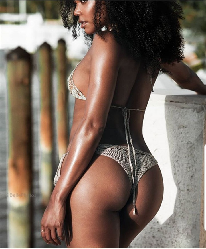 "Gabrielle Union celebrates 46th birthday with an ""ass"" photo"