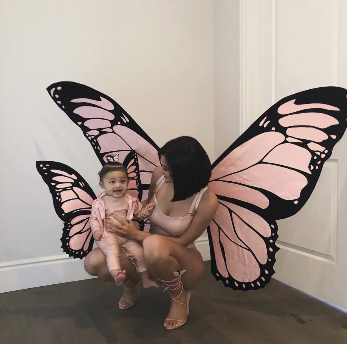 Kylie Jenner & Daughter Stormi Dress Up As Butterflies For Halloween