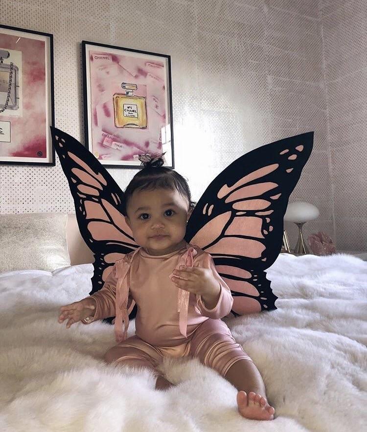 Kylie Jenner & daughter Stormi dress up as butterflies for Halloween