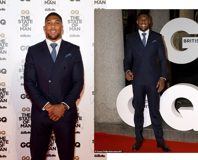 Check out Anthony Joshua's look to GQ anniversary party in London last night (Photos)