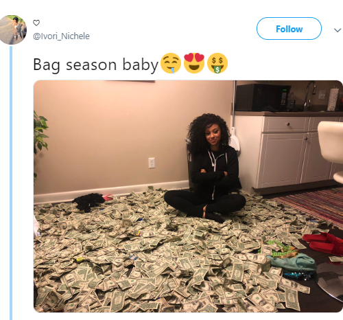 Woman who quit her job months ago to become a stripper rejoices as she cashes out