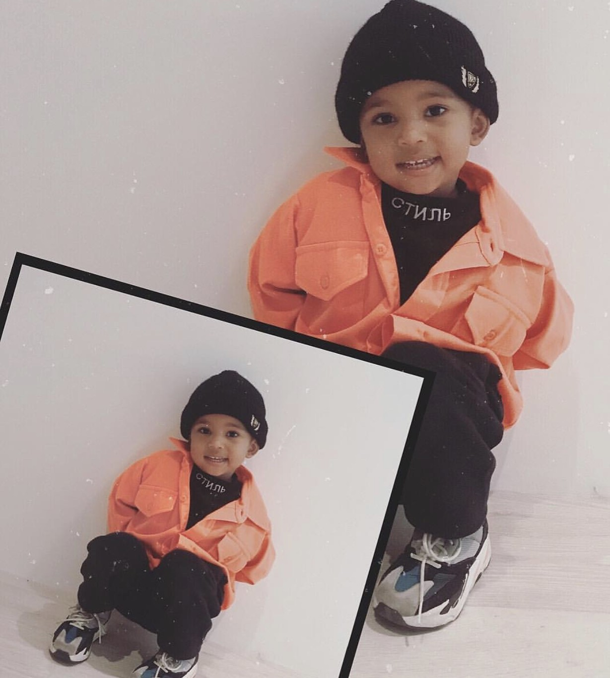 Kanye West's Son, Saint Is A Handsome Little Boy!