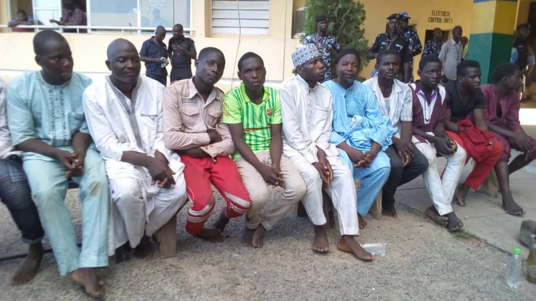 See all the weapons found on protesting shiite members in Abuja