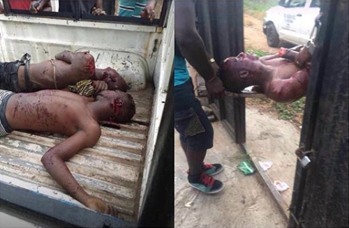 Two Eiye cult members hacked to death by rival group in Ondo (graphic photos)