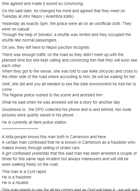 How married pastor accused of being a serial rapist was nabbed in Anambra after he allegedly raped 19-year-old student