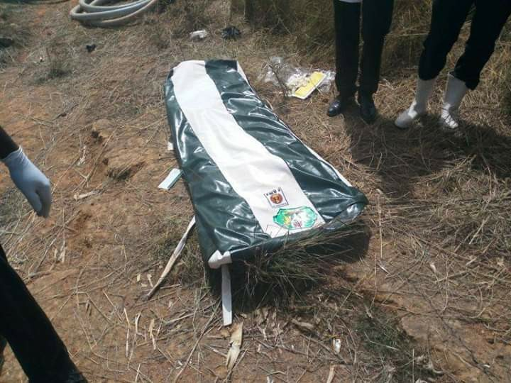 Photos of the body of missing general Alkali found in Jos