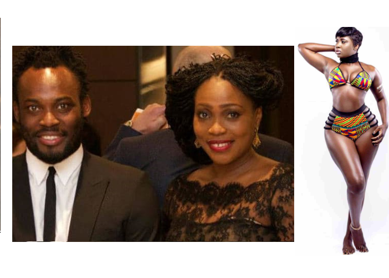 Michael Essien?s wife reportedly moves out of their home over his alleged affair with curvy actress Princess Shyngle