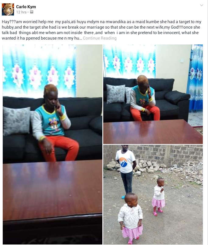 Photos: Woman narrates how her maid tried to break her mariage so as to become the