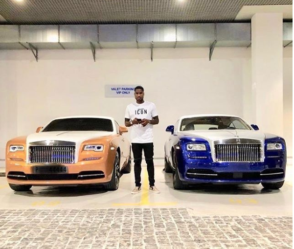 Nigerian striker Brown Ideye bought himself a 2018 Rolls Royce Wraith for his 30th birthday (Photos)