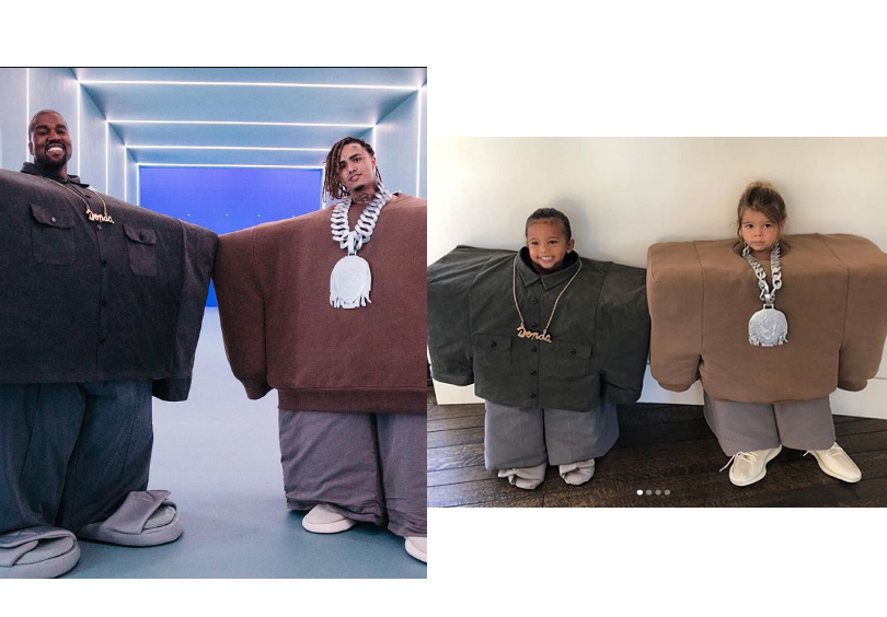 Saint West and Reign Disick dress as Kanye and Lil Pump for Halloween?(Photos)