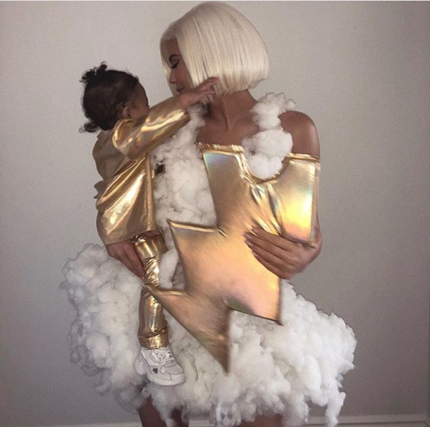kylie Jenner and daughter Stormi dress up as a stormy weather in line with her daughter