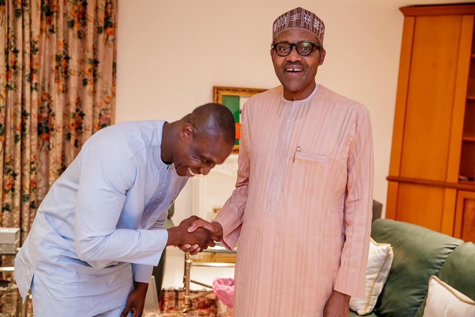 Olajunwo with president Buhari