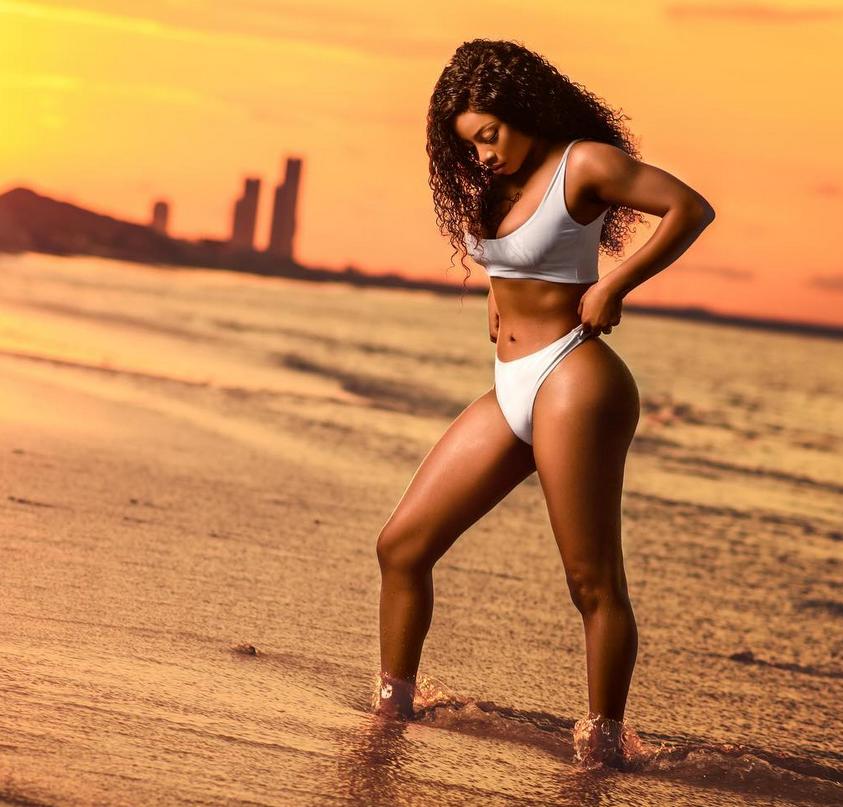 On Becoming 34! Toke Makinwa flaunts her curves in hot new bikini photos
