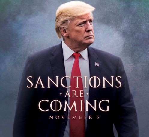 Check out the hilarious photo President Trump shared to warn countries about sanctions