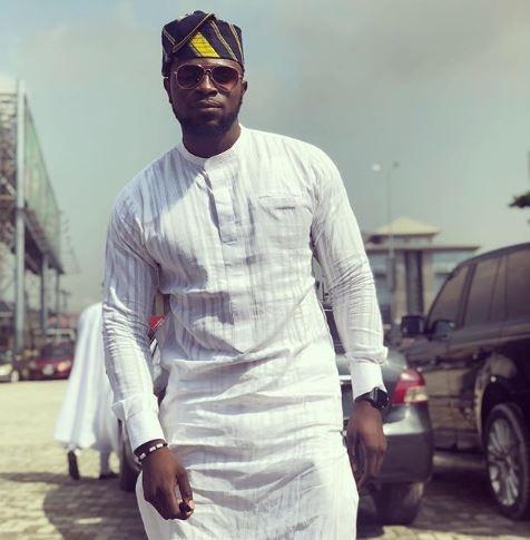 "Falz, Adekunle Gold, Denola Grey, see all the ""Agbadas"" from the wedding of OAP Gbemi Olateru-Olagbegi to?Femi Ajayi"