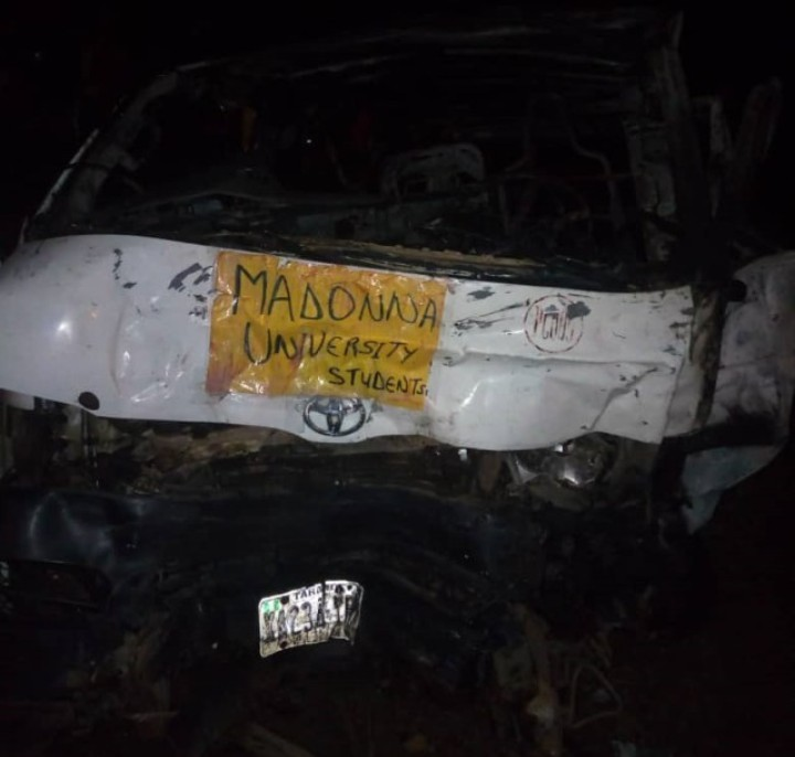 3 Madonna University students burnt to death as 2 buses conveying students crashes
