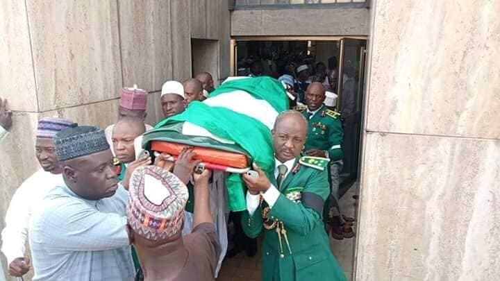 Photo: Remains of Major General Idris Alkali buried in Abuja