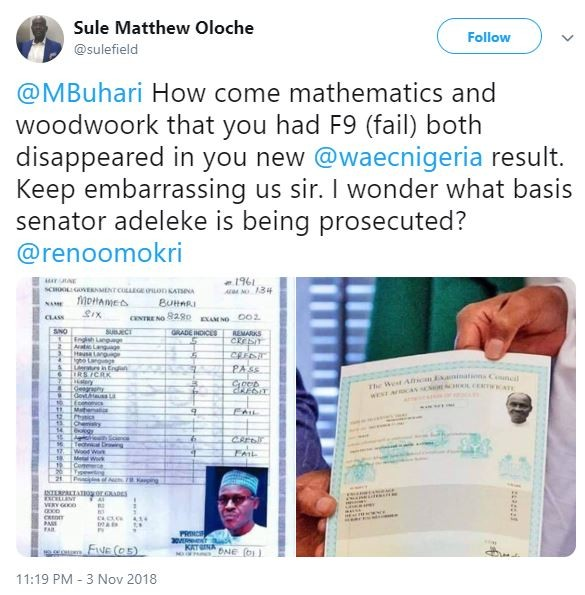WAEC explains why President Buhari