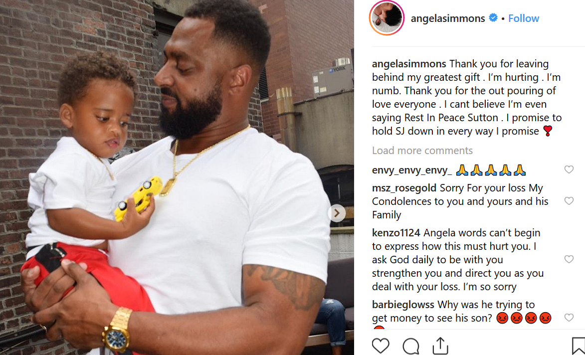 Angela Simmons reacts to ex Sutton Tennyson