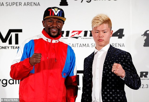 Floyd Mayweather announces New Year's Eve fight with Japanese kickboxer Tenshin Nasukawa (Photos)