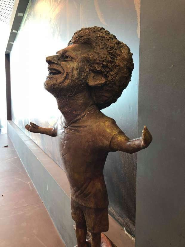 statue of African best footballer Mohamed Salah