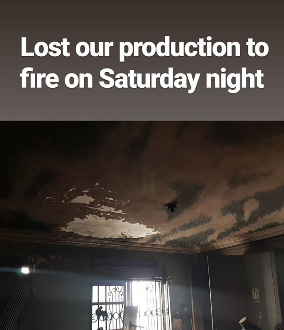 Fashion designer Mai Atafo shares photos of the damage caused by the fire outbreak at his studio