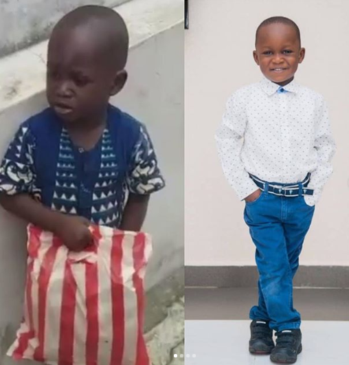 Little Taju who went viral months ago looks unrecognizable in new photos and now goes by a different name