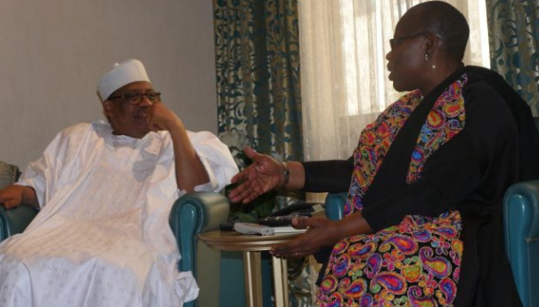 2019: Oby Ezekwesili meets ex-military leader Ibrahim Babangida in Minna (photos)