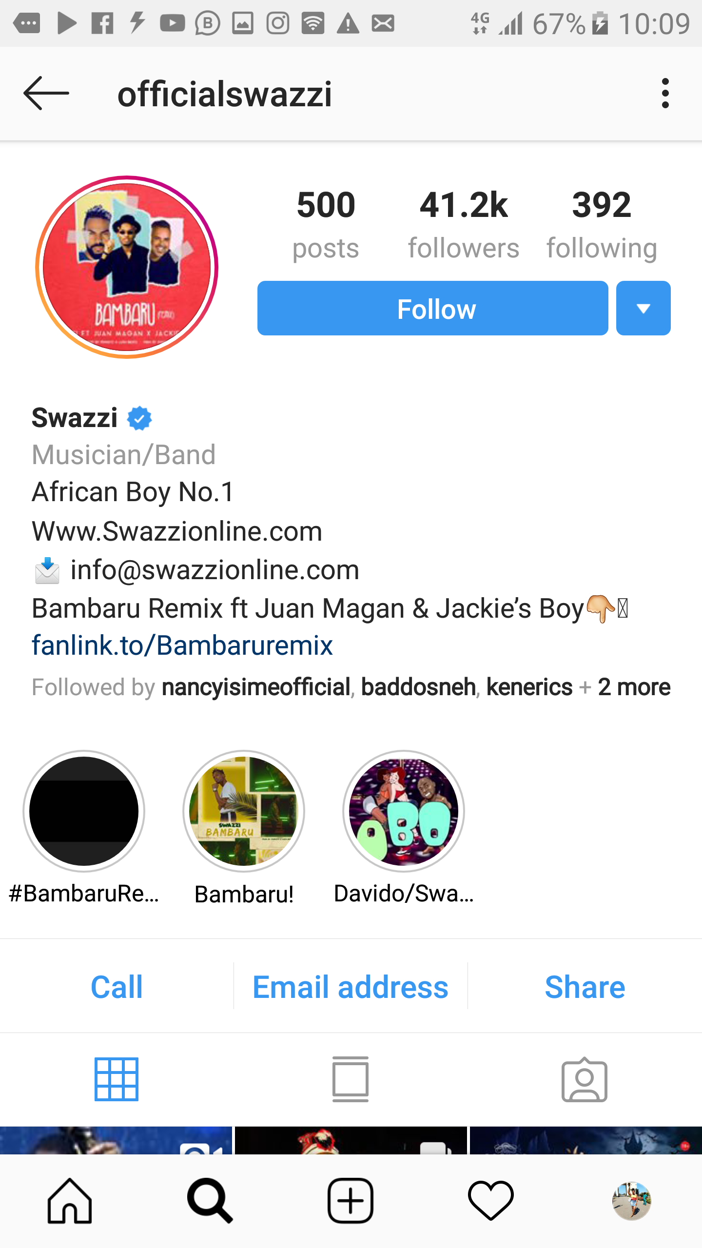 Trouble as angry boyfriend releases artiste @officialswazzi
