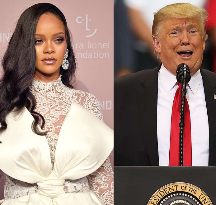 Rihanna sends Donald Trump a legal warning asking him to desist from using her music at his political rallies
