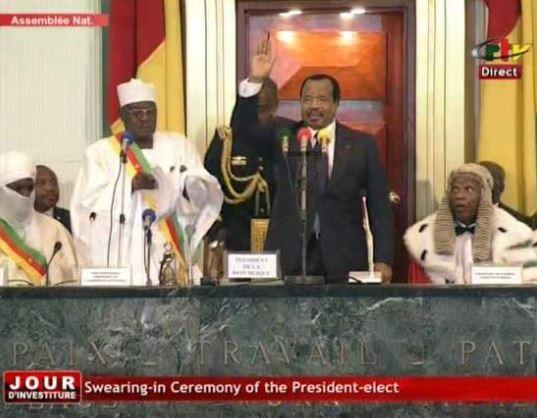 85-year old Paul Biya sworn in as Cameroon